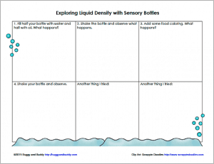 Free Printable Recording Sheet for Exploring Liquid Density