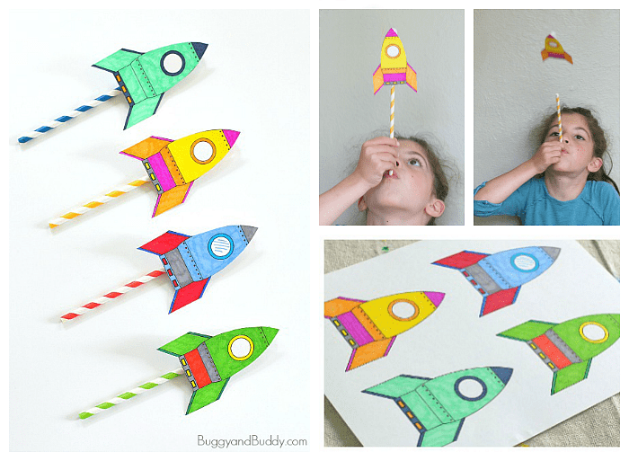 Stem Activity For Kids How To Make Straw Rockets W Free Rocket Template