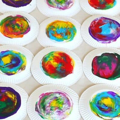 Paper Plate Twisting Process Art Activity for Kids