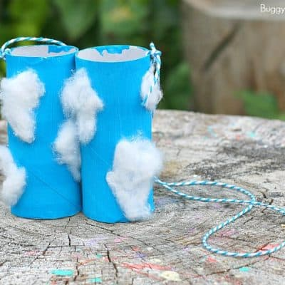 Toilet Paper Roll Binoculars Craft for Cloud Observation