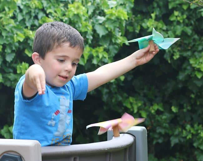 STEM and STEAM Activity for Kids: Paper Helicopter Pinwheel (with Free Template)