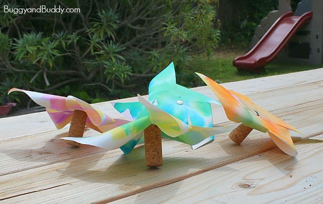 STEM and STEAM Activity for Kids: Paper Helicopter Pinwheels