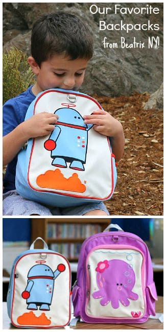 Our Favorite School Backpacks from Beatrix New York! (PVC free, lead free, and phthalate free) ~ BuggyandBuddy.comchildren