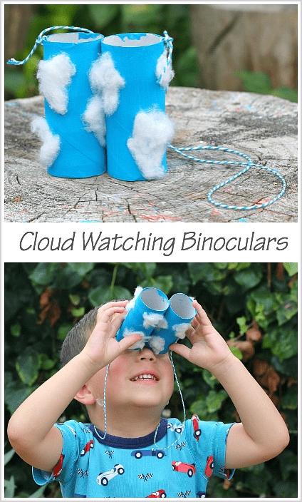 Cloud Watching Binoculars Craft for Kids