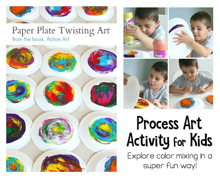 paper plate twisting process art for kids
