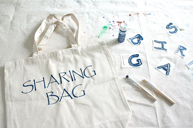 DIY Stenciled Tote Bag for Kids