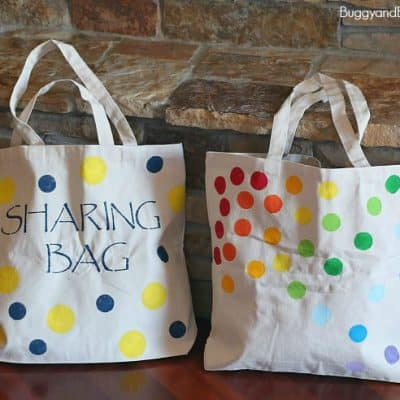 DIY Tote Bag Using Stencils