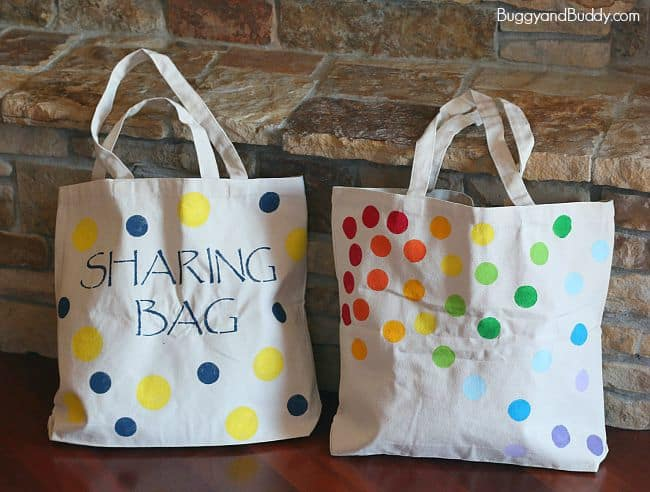 DIY Tote Bag Using Stencils - Buggy and Buddy