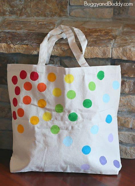 DIY Tote Bag for Kids Using Stencils