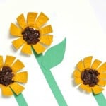 Sunflower Egg Carton Craft for Kids