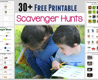 30+ Free Printable Scavenger Hunts for Kids