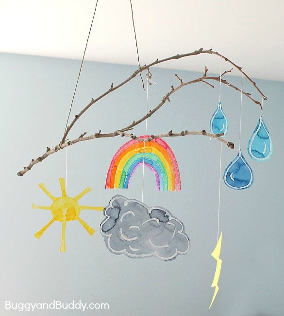 Make a Weather Mobile Craft for Kids ~ BuggyandBuddy.com