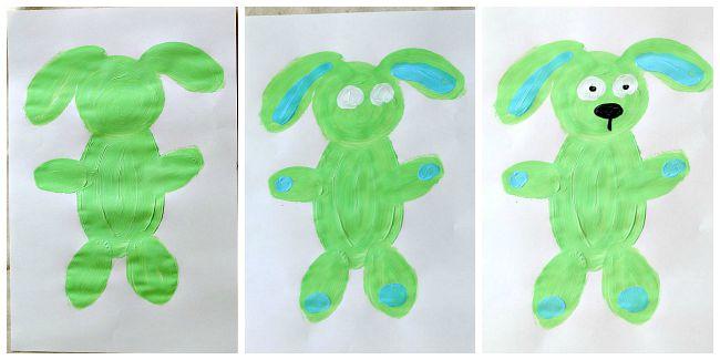 Knuffle Bunny Art Activity for Preschool and Kindergarten