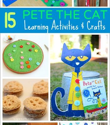 15 Pete the Cat Learning Activities and Crafts for Kids