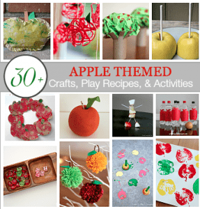 apple crafts and activities for kids