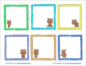 Free Printable Bear-Themed Lunch Box Notes