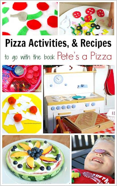15 Pizza Crafts and Activities to Go with the Book, Pete's a Pizza