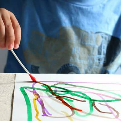 Q-Tip Painting for Kids Using Watercolors