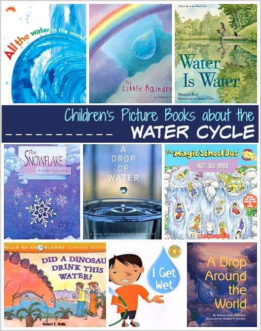 Children's Book List: Picture Books about the Water Cycle- Fiction and nonfiction books for preschool, kindergarten, and elementary grades. (NGSS) ~ BuggyandBuddy.com