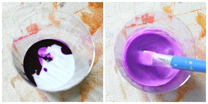 how to make colored glue