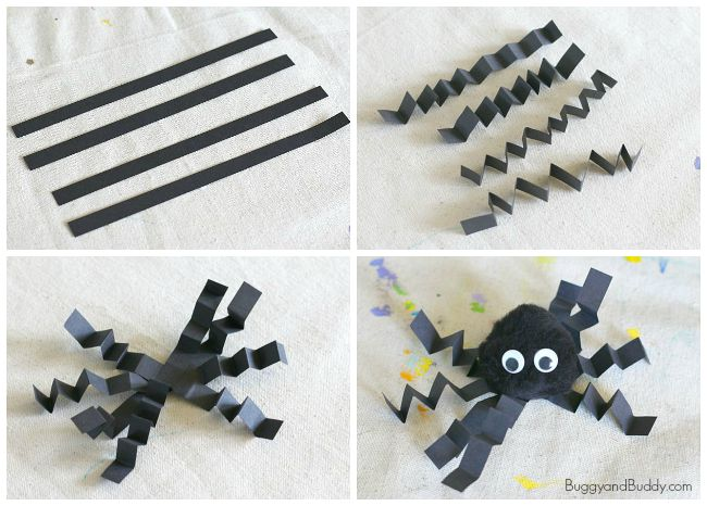 how to make a pom pom spider