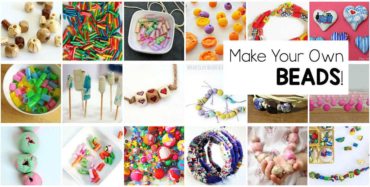 18 homemade beads- fun craft for kids