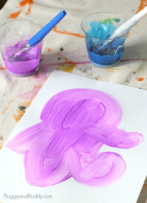 monster art for preschoolers using colored glue