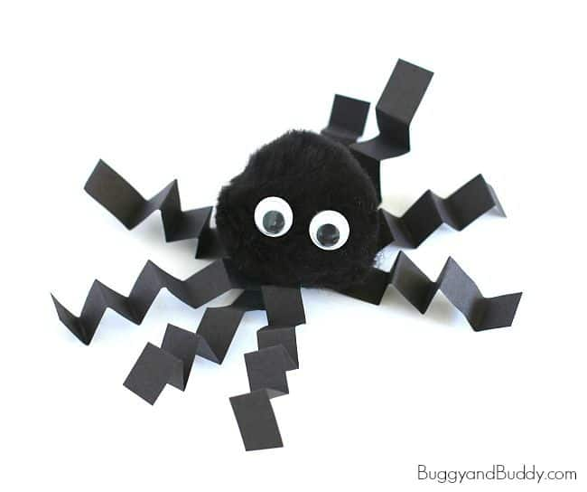 Halloween for Kids: Pom Pom Spider Craft