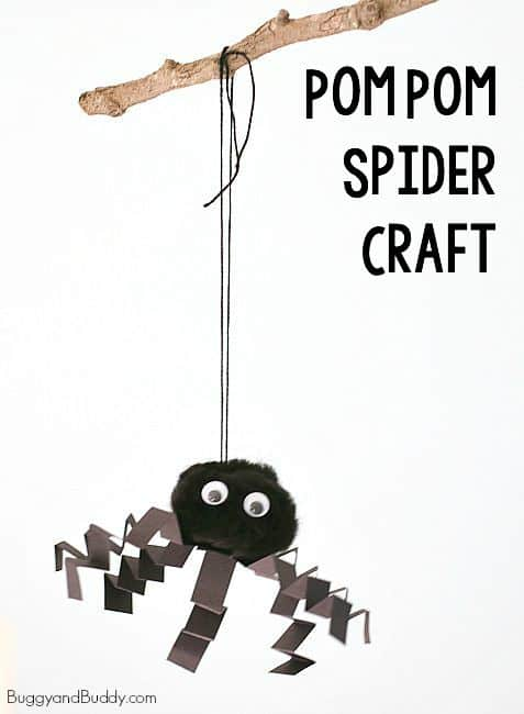 Halloween for Kids: Pom Pom Spider Craft ~ BuggyandBuddy.com
