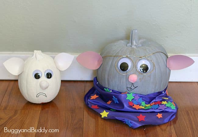 Storybook Character Pumpkins: Grandma Poss and Hush from Possum Magic by Mem Fox