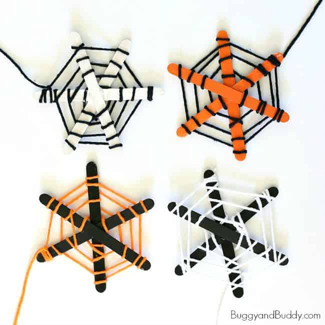 Spider Web Halloween Craft for Kids - Buggy and Buddy