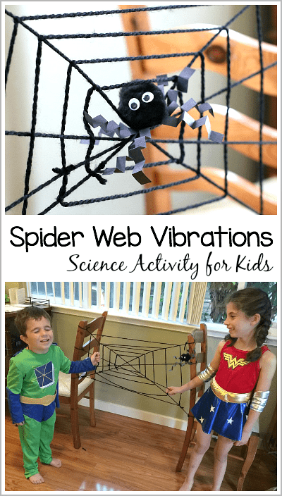 Halloween Science Activity for Kids: Learn about Spider Web Vibrations! ~ BuggyandBuddy.com