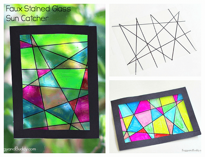 Faux Stained Glass Sun Catcher Craft for Kids