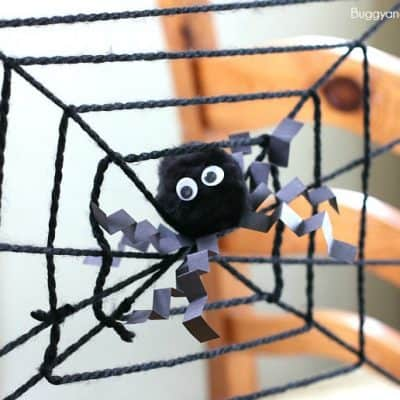 Spider Web Science Activity for Kids for Halloween