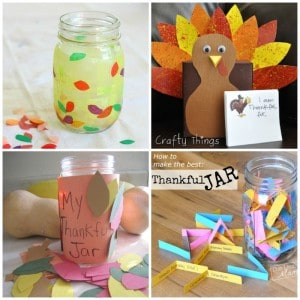gratitude jars and thankful jars for Thanksgiving
