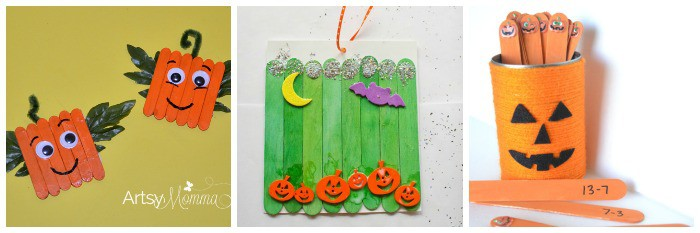 12 Halloween Crafts for Kids Using Popsicle Sticks