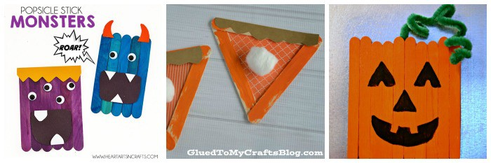 craft stick halloween crafts for kids
