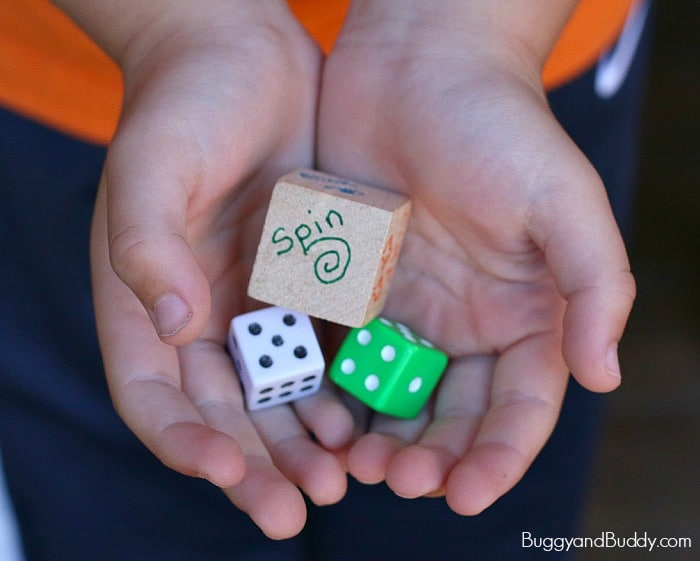 Gross Motor Math Game for Kids: Counting Action Dice