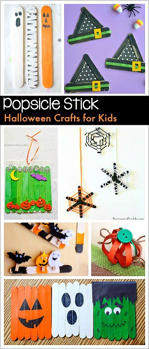 12 Halloween Crafts For Kids Using Popsicle Sticks Buggy
