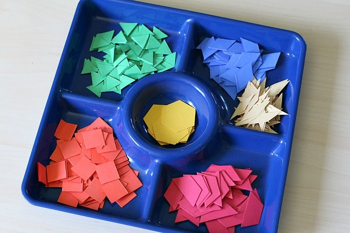 paper pattern block shapes for creating