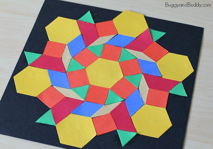 paper pattern block symmetry craft