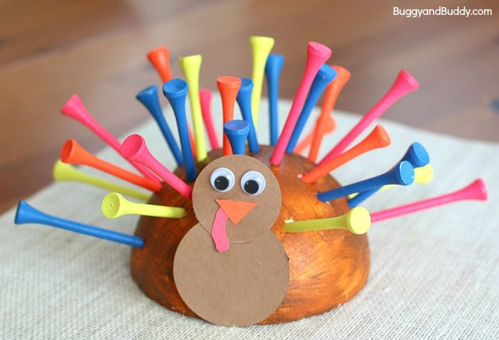 Thanksgiving Activities for Preschoolers: Fine Motor Turkey Craft