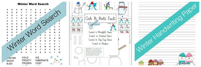 free winter-themed printables for kids