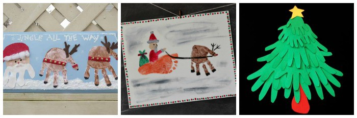 christmas keepsake crafts using handprints