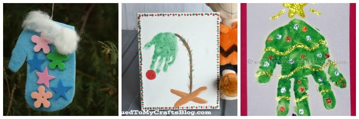 handprint crafts for kids for christmas