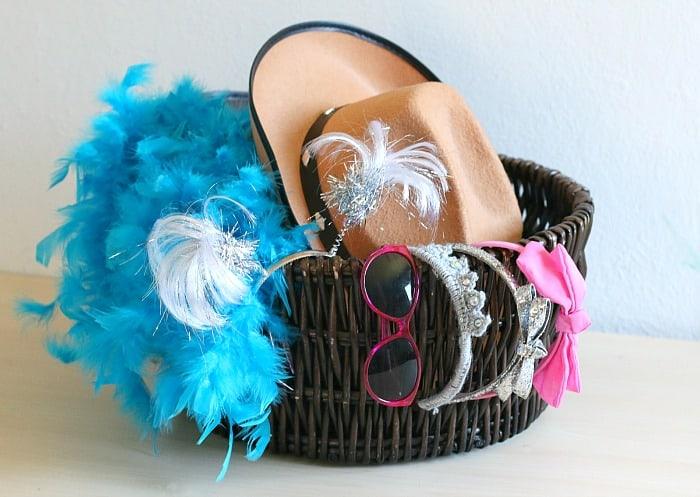 dress up basket for karaoke
