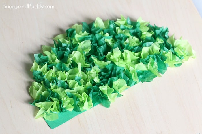 christmas tree craft tissue paper