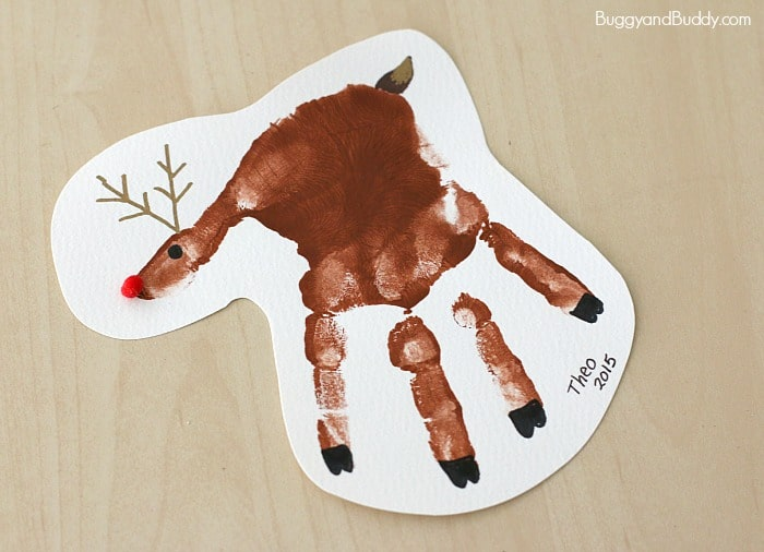 Handprint Christmas Craft Ideas Part - 26: 20 Fun U0026 Easy Christmas Handprint Art For Kids
