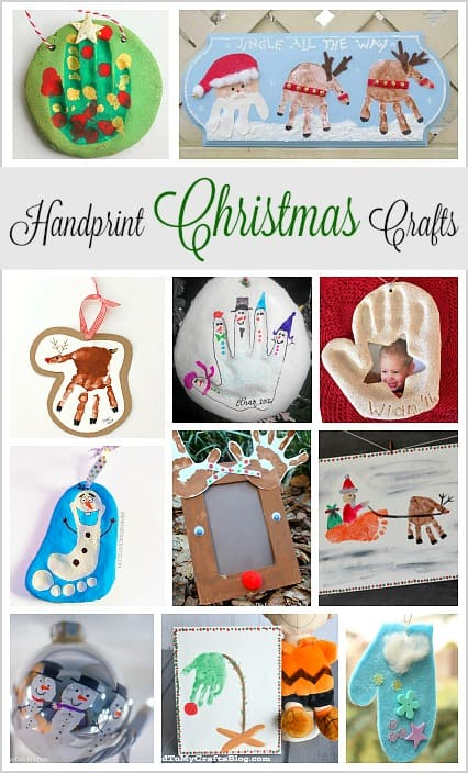 Handprint Christmas Crafts For Kids Reindeer Santa Snowmen Ornaments And