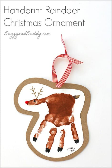 Handprint Reindeer Christmas Ornament Craft For Kids Such A Special Keepsake BuggyandBuddy